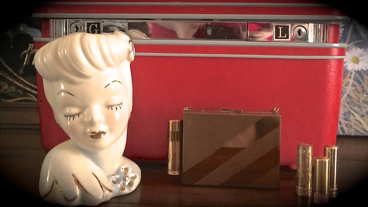 Vintage lady head vases retro makeup cases youtube reviewsmspy