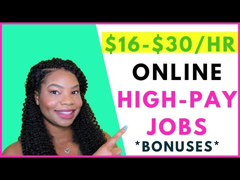 Earn $16-$30 per hour High-Paying Online Jobs! | Online, Remote Work-At-Home Jobs September 2019