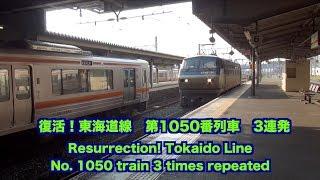 【貨物列車】復活!東海道線第1050番列車 フレームライナー 3連発