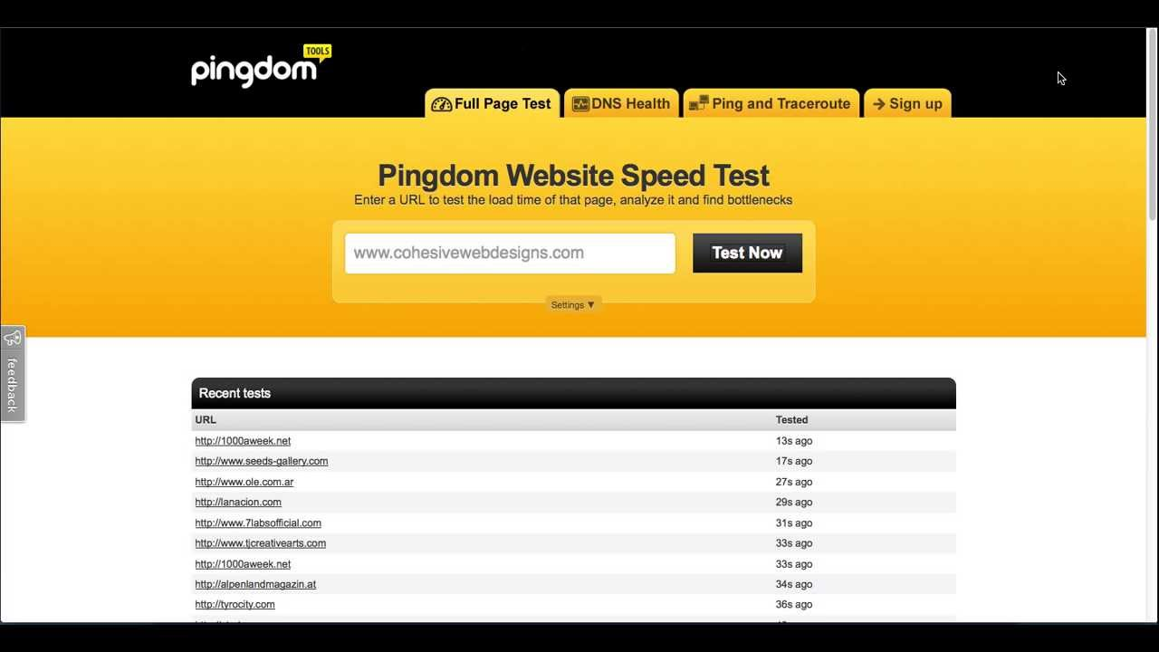 Web Performance Test - YouTube