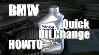 oil change howto 2008 bmw 535xi quick