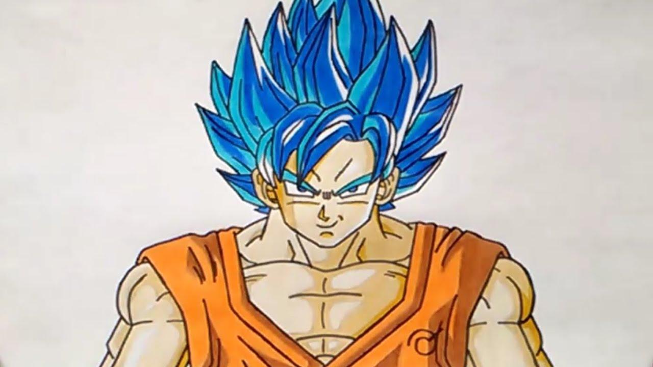 Goku Super Sayayin Dios Azul Para Colorear: Cómo Dibujar A Gokú SSJ Dios Azul