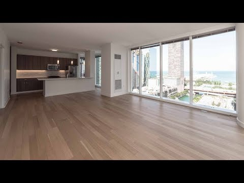 A lake view 2-bedroom, 2-bath at Streeterville