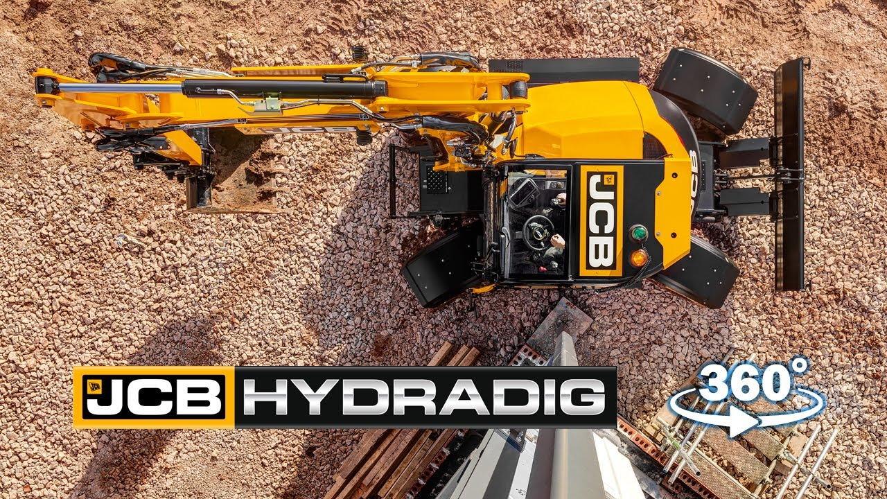 Watch JCB HYDRADIG In-Cab View in 360°