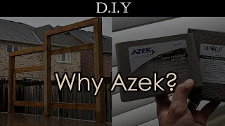 DIY Deck (Part 8): How to frame privacy screen for deck? Why Azek PVC over Wolf and Trex?