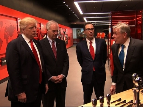 Raw: Pres. Trump Tours Wisconsin Snap-On Factory