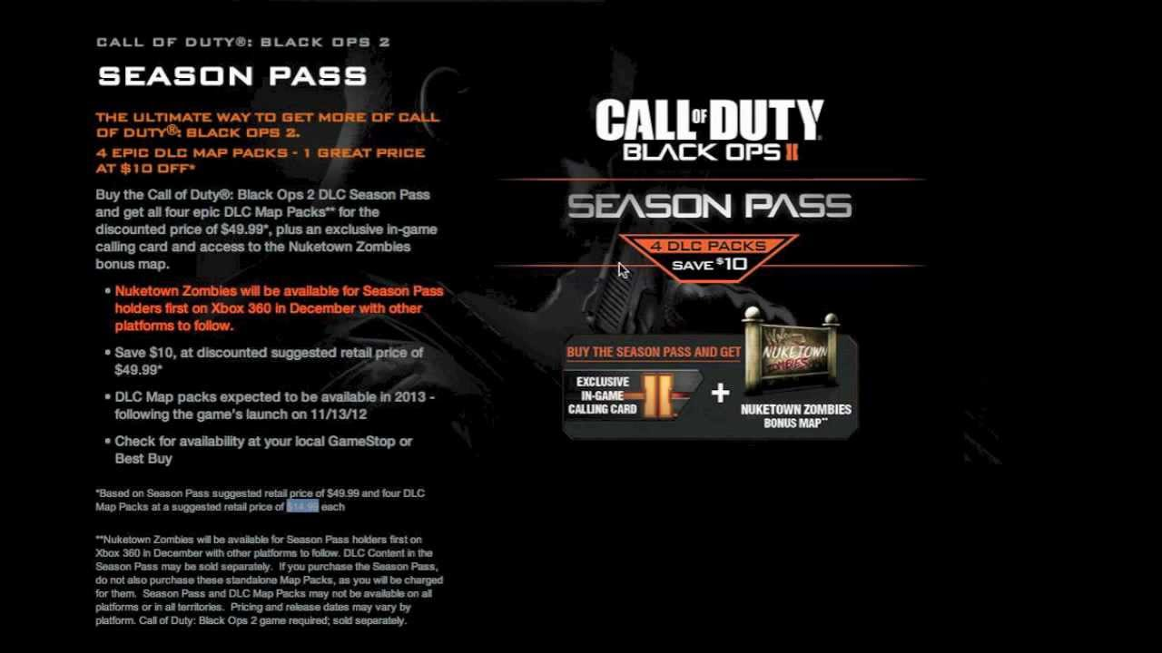 black ops 2 season pass ps3 free download