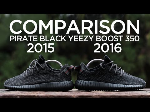 1975c7997fa7b ... coupon code for comparison adidas yeezy boost 350 pirate black 2015 vs.  2016 youtube e1d49