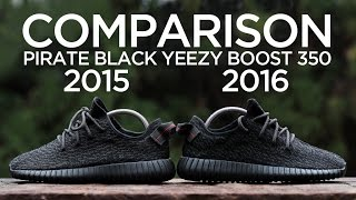 Comparison: Adidas Yeezy Boost 350 - Pirate Black (2015 vs. 2016)