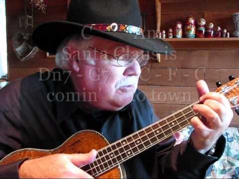 SANTA CLAUS IS COMING TO TOWN - UKULELE LESSON / TUTORIAL by