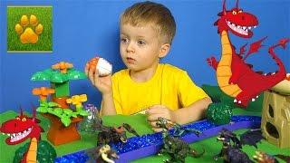 Драконы Яйца с Сюрпризами 2 серия Распаковка Обзор  Драконы Игрушки Видео для детей Lion boy