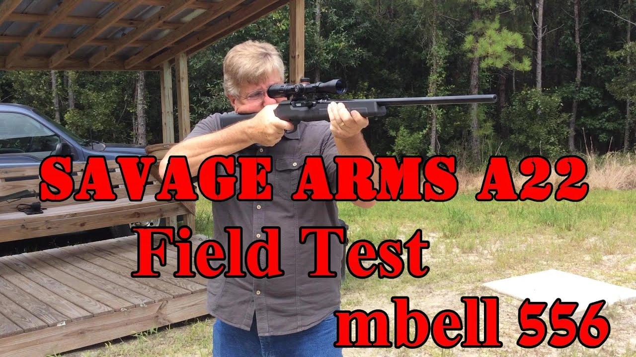 savage arms a22 22 wmr magnum semi auto rifle field test