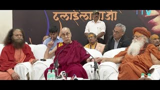 His Holiness the Dalai Lama Interact with Media personn