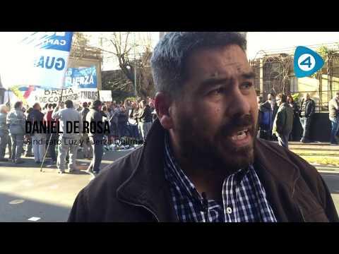 Precarización laboral y ajuste, la cara menos visible de Edesur: protesta de trabajadores de Luz y Fuerza en Quilmes