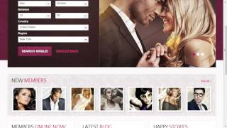 Dating Responsive Website Template TMT | Free Template  Connell Booke