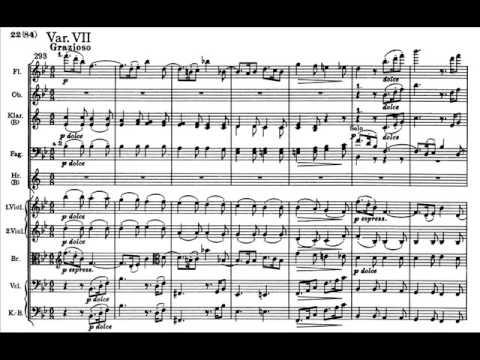 Brahms - Variazioni su tema di Haydn op. 56a (score)