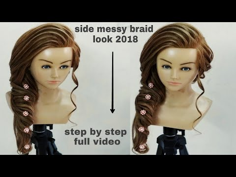 Side Braid Hair Style Tutorial/side Messy Braid Hairstyle/side Twist Braid Hairstyle Step By Step