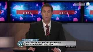 Visión 7 - Elecciones 2015: Comenzó la votación para elegir jefe de Gobierno porteño