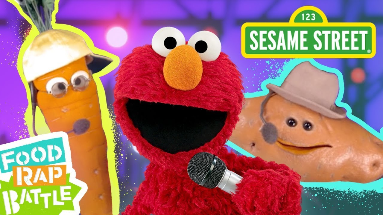 Sesame Street Carrot Vs Sweet Potato Feat Daveed Diggs Rafael Casal Elmos Food Rap Battle