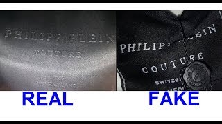 Real vs. Fake Philipp Plein T-shirt. How to spot fake Philipp Plein