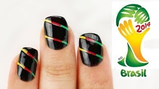 AMAZING Technique! Brazil World Cup Nail Art Tutorial