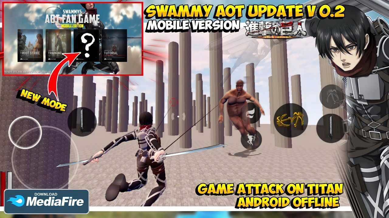 [UPDATE] AOT SWAMMY MOBILE V 0.2 | GAME ATTACK ON TITAN ANDROID OFFLINE TERBAIK 2021 FANGAME
