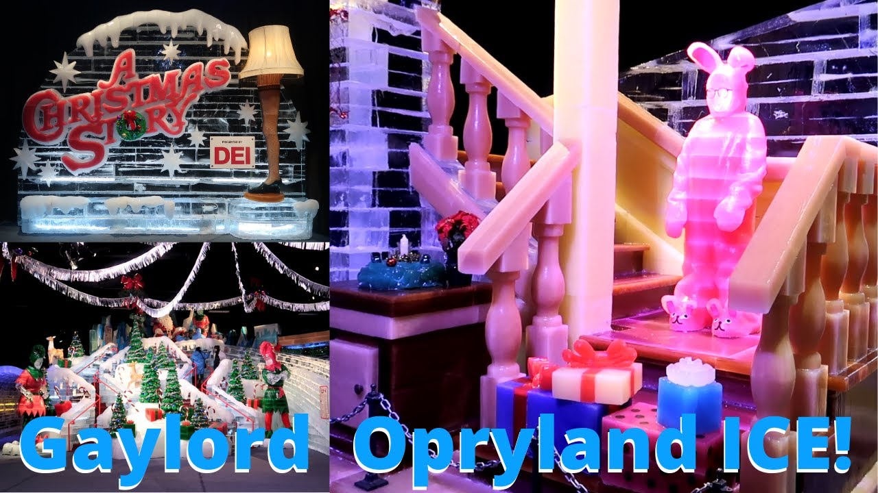 Opryland Christmas Ice 2020 Gaylord Opryland ICE! Featuring A Christmas Story 2019   YouTube