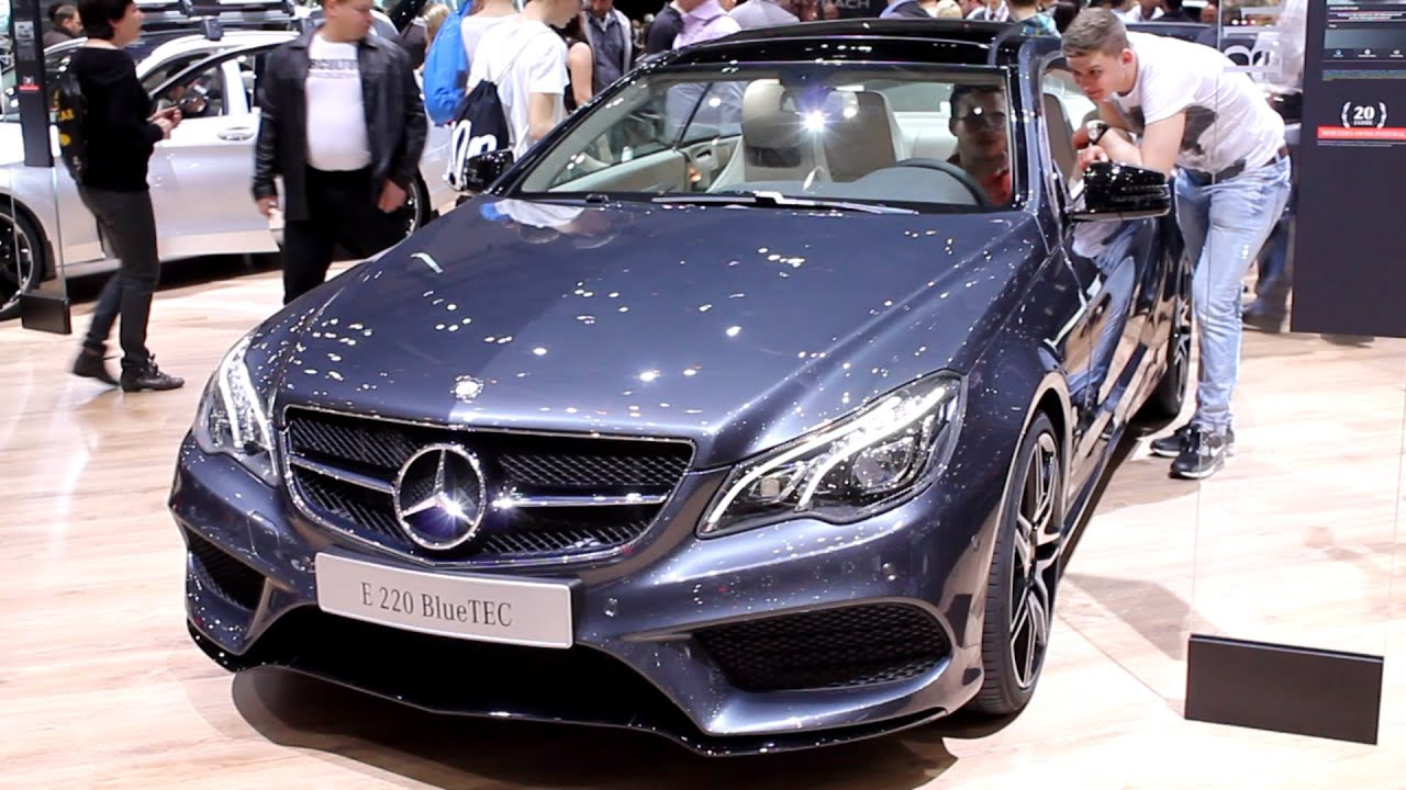 new mercedes benz e220 coupe bluetec w207 geneva motor show 2015 hq youtube. Black Bedroom Furniture Sets. Home Design Ideas