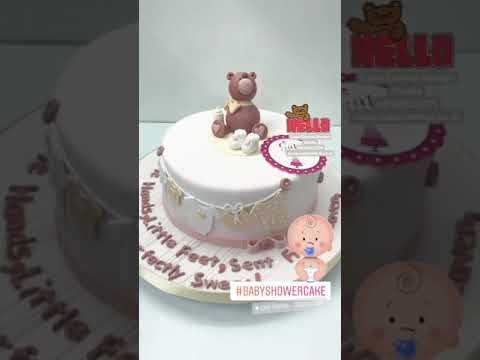 Baby Shower Fondant Cake Cute Birthday Cakes