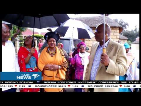 New bride Baleka Mbete meets her in-laws and King Letsie in Lesotho