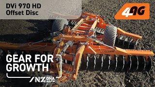 DVi 970 HEAVY DISC HARROW Working crop ground near Gisborne, New Zealand