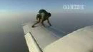 Man On The Wing Of a FLYING Plane !!!