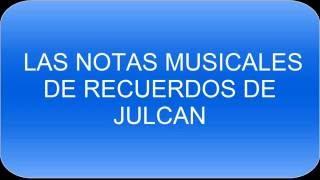Recuerdo de Julcan - notas musicales
