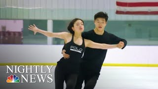 After Placing 9th In Sochi, The Shib Sibs Are Back To Compete In PyeongChang   NBC Nightly News
