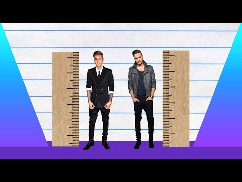 How Much Taller? - Justin Bieber vs Liam Payne!