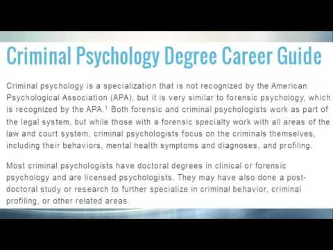 masters degree in criminal psychology - youtube, Human Body