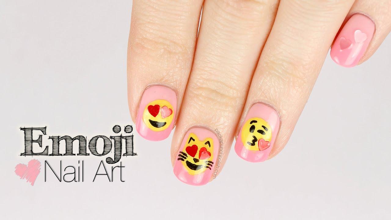 Emoji Nail Art Tutorial ft NCLA | PackAPunchPolish - YouTube