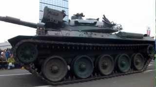 03.24 大洗海楽フェスタでの74式戦車姿勢制御デモの模様.