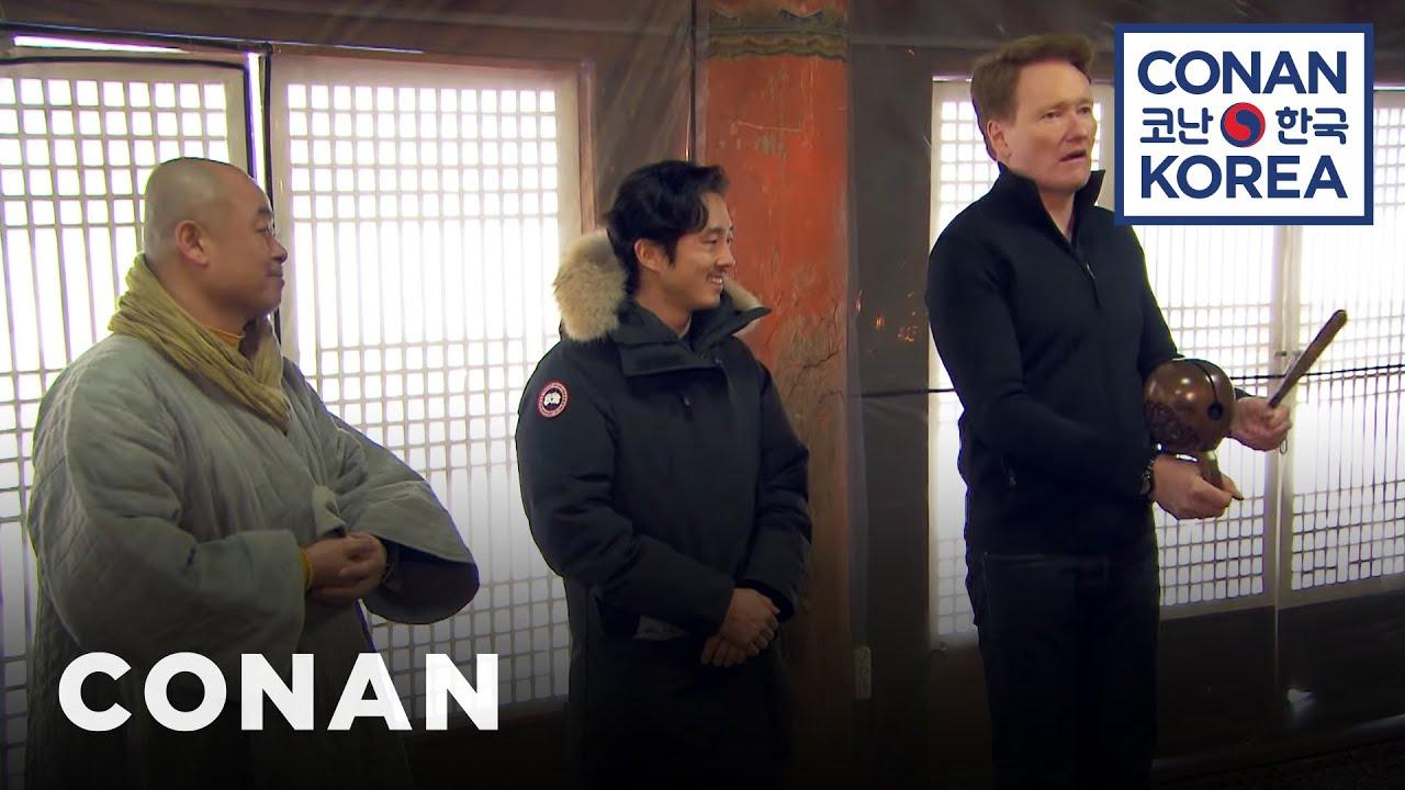 Download Conan & Steven Yeun Visit A Buddhist Temple | CONAN on TBS