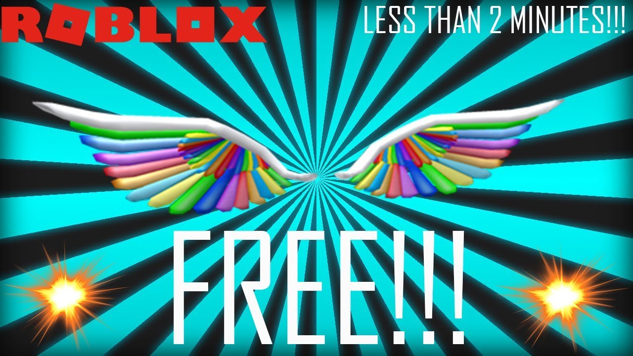 Best Roblox Anime Rp Games Roblox Free Wings To Wear How To Get The New Free Rainbow Wings On Roblox In Less Than 2 Minutes Youtube