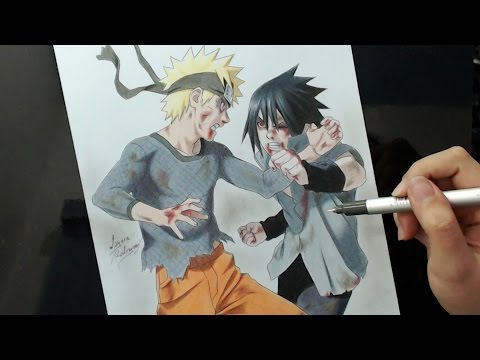 Speed Drawing - NARUTO X SASUKE | Final Battle