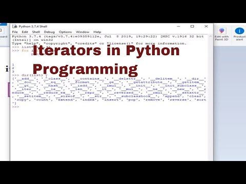 PYTHON TUTORIAL: ITERATORS IN PYTHON PROGRAMMING thumbnail