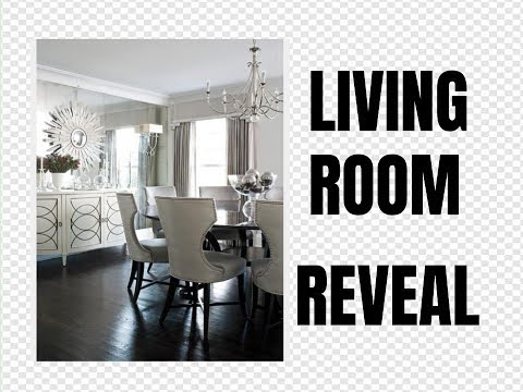 SMALL LIVING ROOM DECOR & REVEAL ~ HOW TO EASILY HANG HEAVY MIRRORS & WALL ART