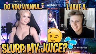 "Symfuhny Gets a Little Too ""Excited"" Playing with Faith! - Fortnite Best and Funny Moments"