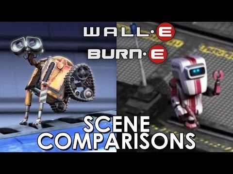 WALL·E (2008) and BURN·E (2008) - scene comparisons