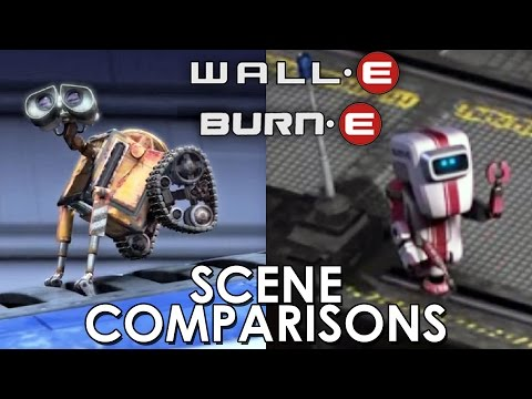 WALL·E (2008) And BURN·E (2008) - Scene Comparisons