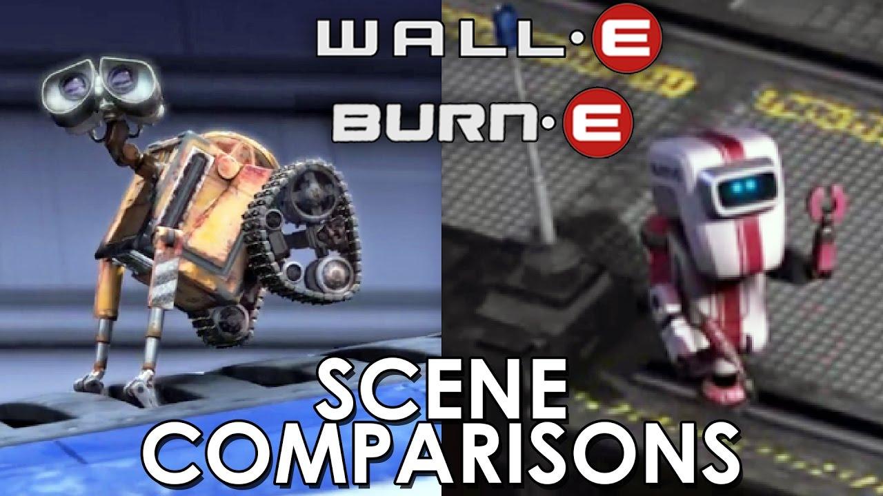 Wall E 2008 And Burn E 2008 Scene Comparisons Youtube