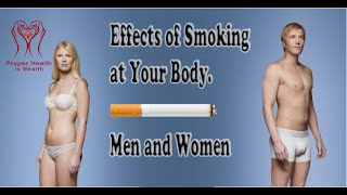 Effects of Smoking at Your Body. Men and Women have different smoking effects info video.