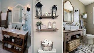 ❤DIY Rustic Shabby chic style  Bathroom decor Ideas❤ | Rustic Home decor| Flamingo Mango
