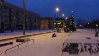 Сооружения для скейтбординга на Рощинской улице (Гатчина). 14.01.2017, 17:10